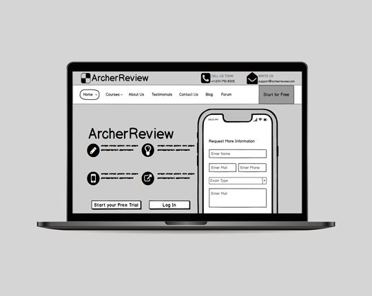 Educational Website | Wireframe | Techscooper
